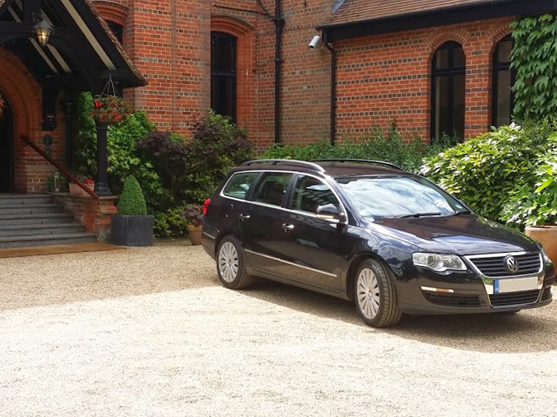 allport autos private hire service outside clients house